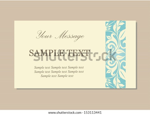 Floral Vintage Business Invitation Card | Royalty-Free Stock Image