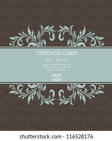 Floral vintage card. Vector