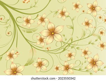 Floral Wall and Fabric Background Design Image Stock Vector Download.