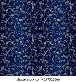 Floral wallpaper. Vector illustration
