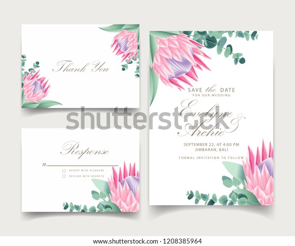 Floral Wedding Invitation Card Template Design | Royalty-Free ...