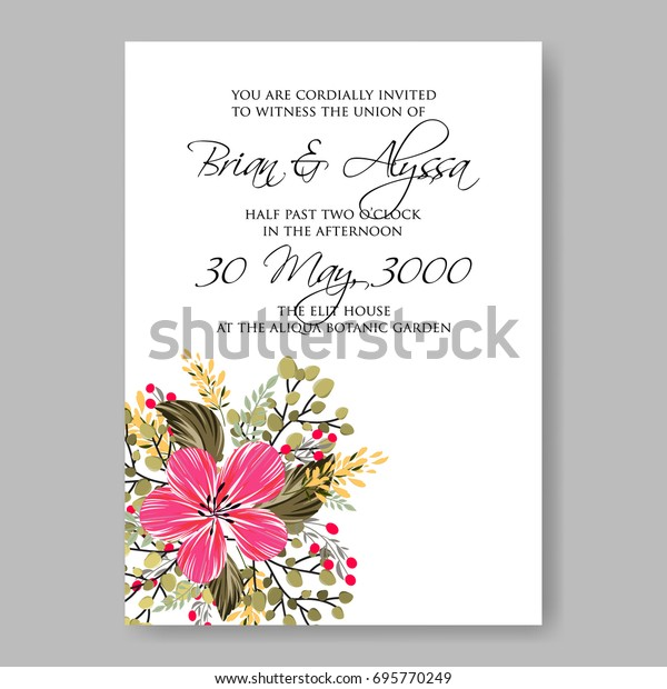 Floral Wedding Invitation Template Card Stock Image | Download Now