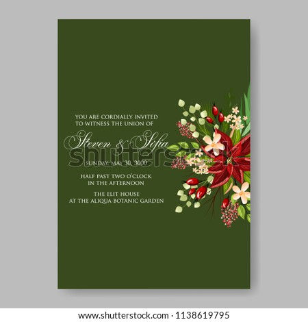 Floral Wedding Invitation Template Vector Card Stock Royalty