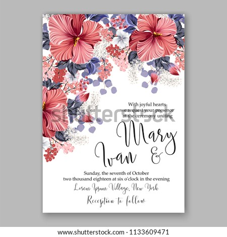 f6cfbc2da15 Floral wedding invitation vector card template Marriage flower background bridal  shower invite