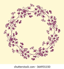 Floral wreath with decorative flowers