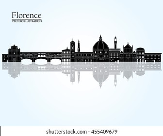 Florence skyline silhouette. Vector illustration