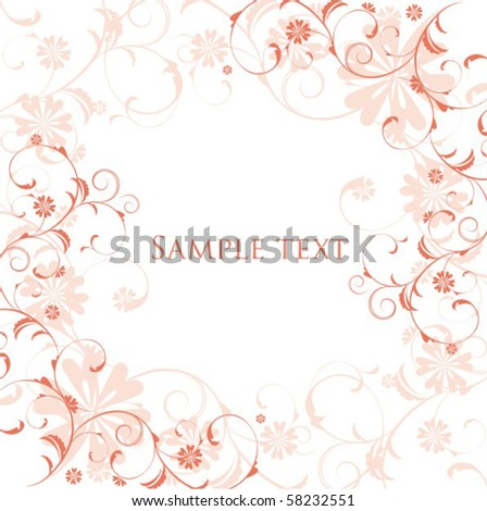 Flores Background Stock Vector Royalty Free 58232551 Shutterstock
