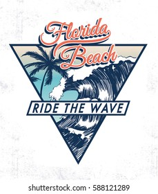 Florida beach vector illustration for t-shirt and other uses