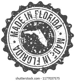 Florida Made In Map Travel Stamp Icon City Design Tourism Export Seal