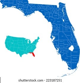 Map Of Florida By County.Florida County Map Images Stock Photos Vectors Shutterstock