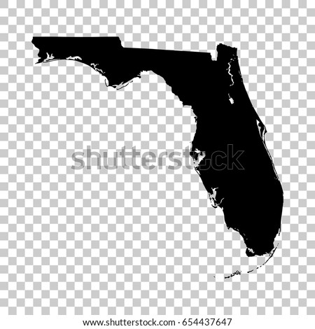 Florida On A Map.Florida Map Isolated On Transparent Background Stock Vector Royalty