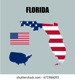 Florida Map Usa.Florida Map Withe On Black Background Stock Vector Royalty Free