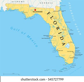 Florida Map Images Stock Photos Vectors Shutterstock
