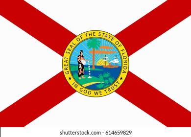 Florida State Flag. Vector illustration.