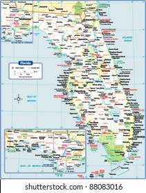 Flordia State Map.Florida Map Images Stock Photos Vectors Shutterstock