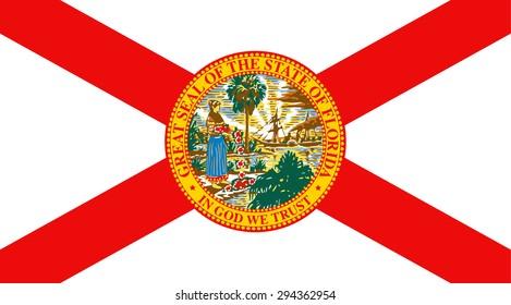 Florida state national flag. Vector EPS8