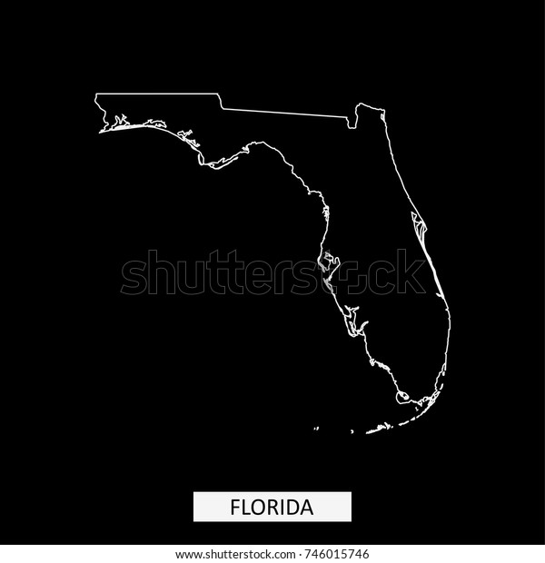 Usa Map Florida State.Florida State Usa Map Vector Outline Stock Vector Royalty Free