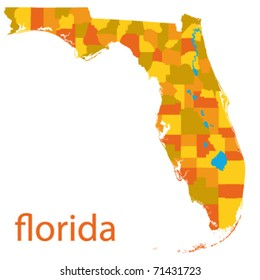 florida state vector map