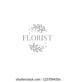 Florist Wedding Logo Design