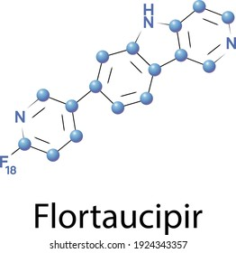 Flortaucipir 18F is a radioactive diagnostic agent indicated for use with positron emission tomography, PET, imaging to image the brain.