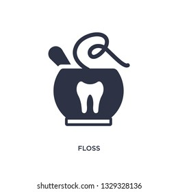 floss icon. Simple element illustration from gastronomy concept. floss editable symbol design on white background. Can be use for web and mobile.