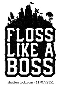 floss like a boss t shirt - fortnite floss clipart