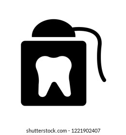 flossing icon. Trendy flossing logo concept on white background from Hygiene collection. Suitable for use on web apps, mobile apps and print media.