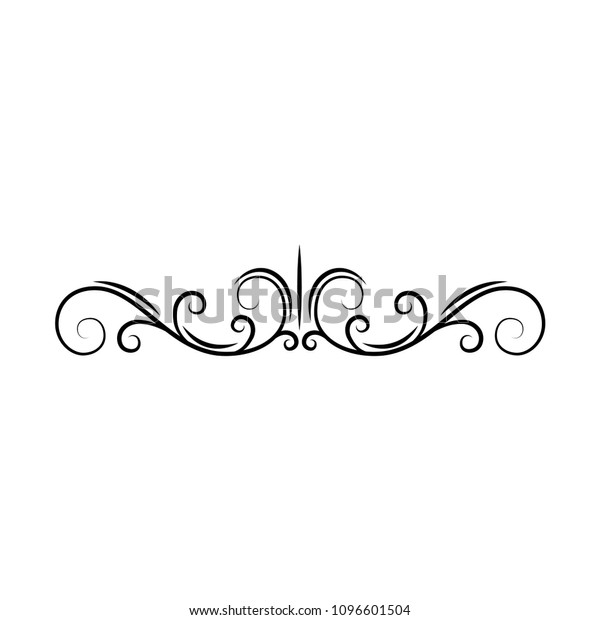 Flourish Page Divider Decorative Scroll Page The Arts