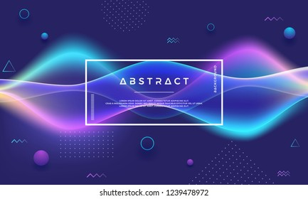 Flow Abstract background. Creative Modern Dynamic background. Trendy gradient shape vector background.