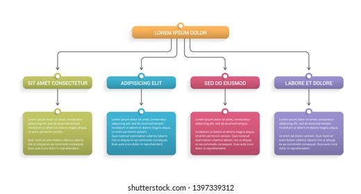 Flow chart with 3 levels, infographic template for web, business, presentations, vector eps10 illustration