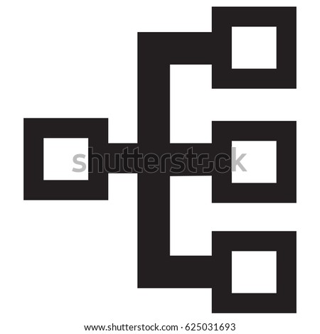 Flow Chart Icon Stock Vector Royalty Free 625031693 Shutterstock