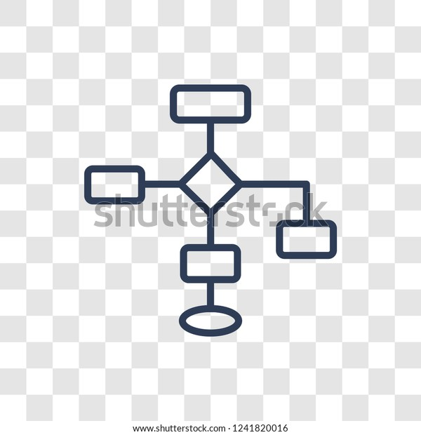 Flow Chart Icon Trendy Linear Flow Stock Vector Royalty