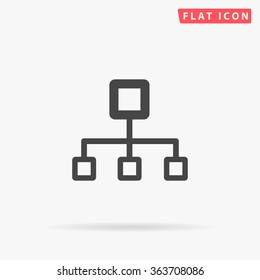 Flow chart Icon Vector. Simple flat symbol. Perfect Black pictogram illustration on white background.