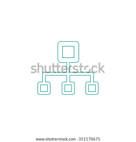 Flow Chart Outline Vector Icon On Stock Vector 351170675 Shutterstock