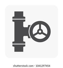 Flow control valve icon.