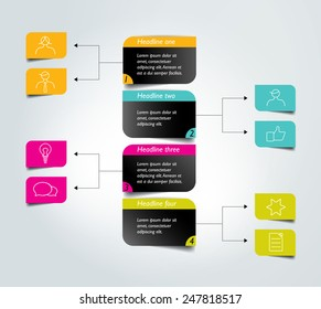 flowchart diagram, scheme  infographic element