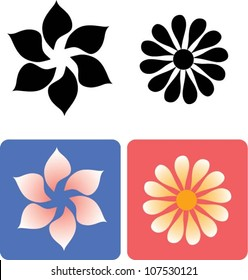 Flower 1. Floral element for any design, easy to change color
