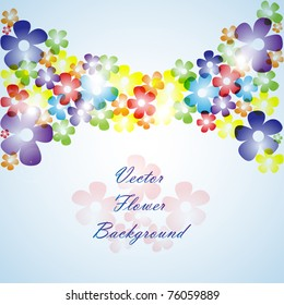 Flower abstract background - vector