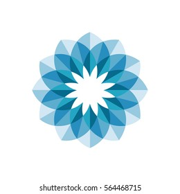 Flower abstract logo design. Vector.