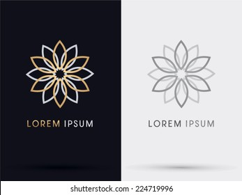 Flower abstract logo, symbol, icon, graphic, vector.