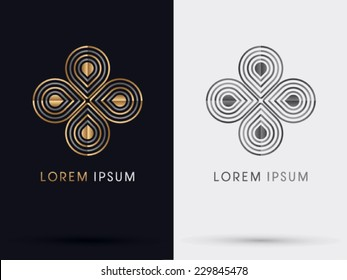 Flower abstract logo, Vector