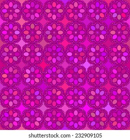 Flower background Abstract vector seamless pattern Magenta color