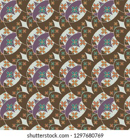 Flower background - nature colored seamless pattern.