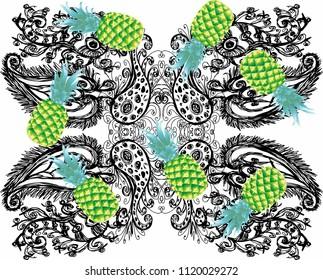 flower background vector art