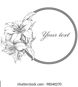 Flower banner wish your text