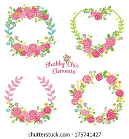 Flower Banners and Tags - Wedding, Birthday, Valentine's Day  - in vector