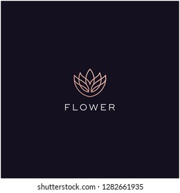 flower bloom line logo