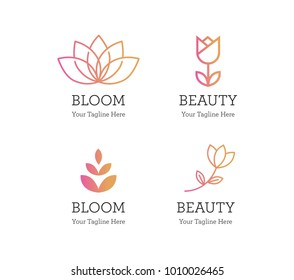 Flower and Bloom Vector Logos and Icon Collection