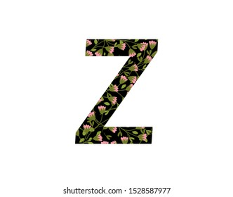 Flower Blossom Letter Z Icon Logo . Z Letter Design Vector flower blossom perfect for florist, boutique, wedding and ornament.