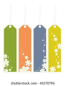 flower bookmarks - vector version